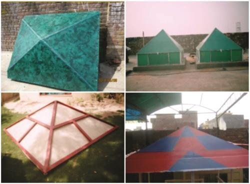fiberglass pyramid canopy roof