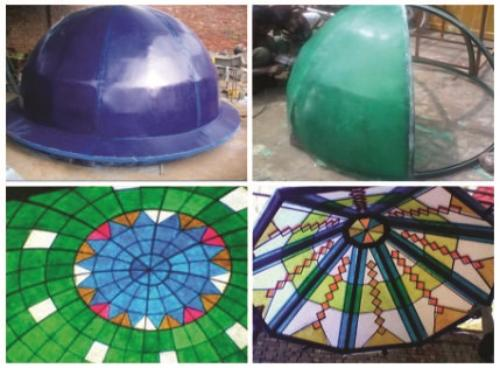 Fiberglass sky light dome