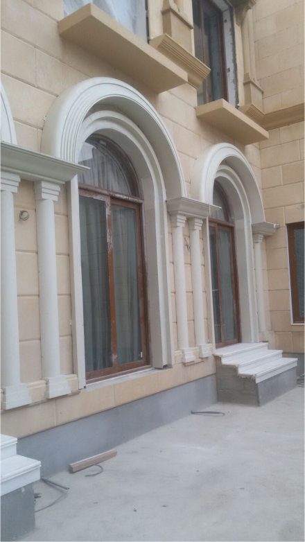 Fiberglass arch