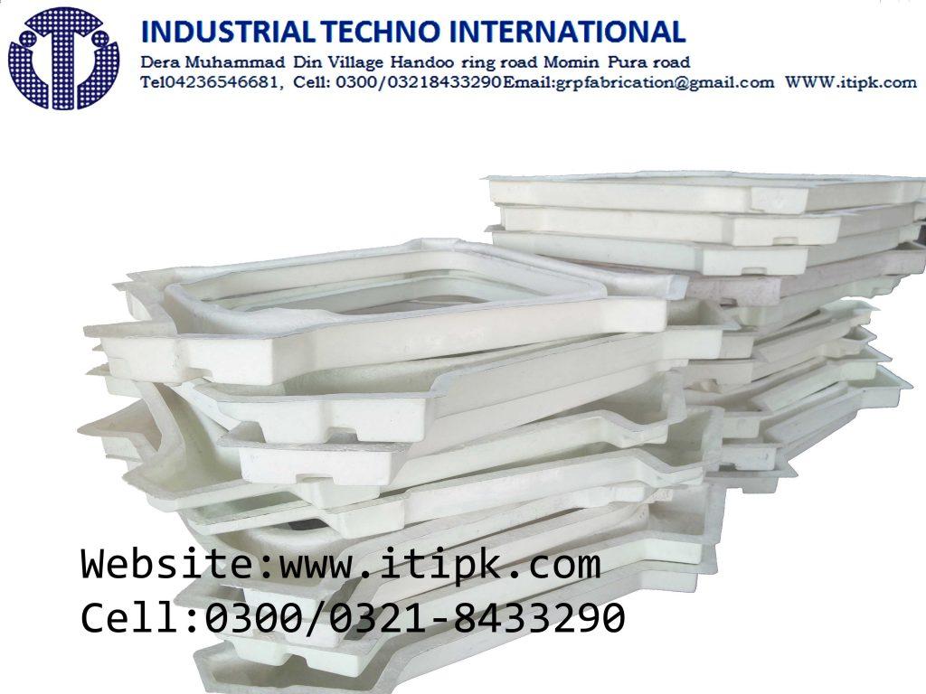 Fiberglass dip tray for HVAC